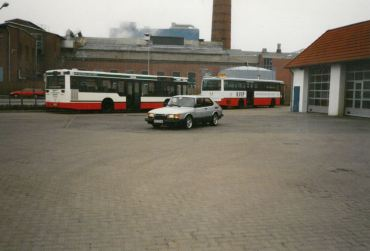 3. SAAB 900 Turbo 16S hos arbetsgivaren