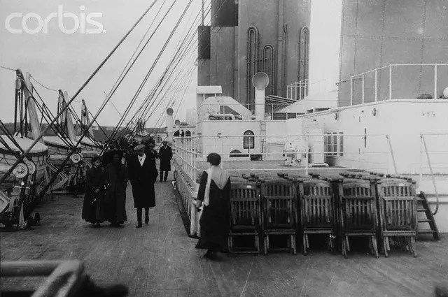 Deck and Deck Chairs on the Titanic ©Corbis