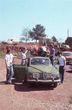 Vår 1977, på väg med min första Saab 96 Utgående resa med 2-vänner till Nice, Monaco returresa med 4-vänner och en trasig Vespa på taket tillbaka till Schweiz.