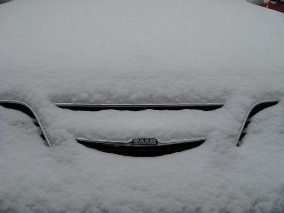 Saab im Schnee