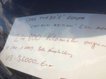 Saab 900 a un precio extremadamente bajo. Cuadro: Goetz