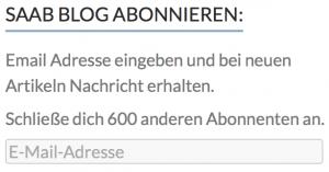 600 Saab Blog abbonati