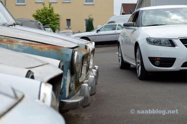 Lancia Appia, im Hintergrund ein Gamma Coupe