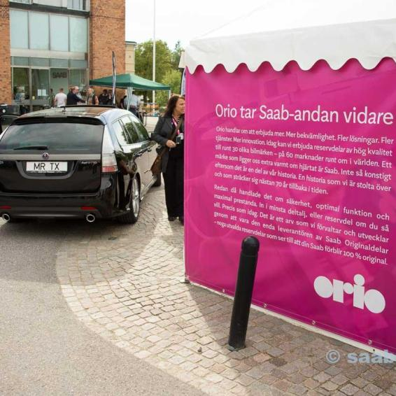 The Orio tent outside the SAAB Museum