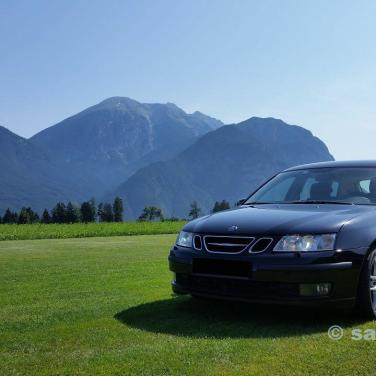 Bild 6. Saab 9-3 in Österreich. Bild von Helmut.