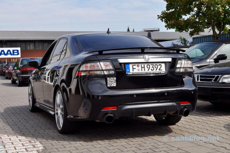 Toll gemachter Saab 9-3 bei Saab Service Frankfurt