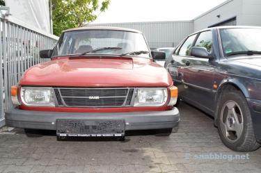 Saab 99, Scheuenfund. Kommt mit H-Kennzeichen auf die Strasse.