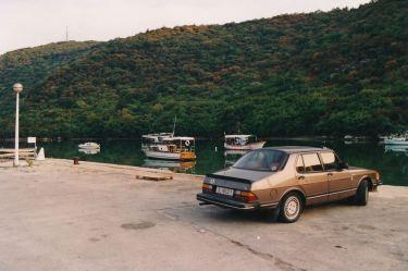 Saab 900, turnê na Ístria.