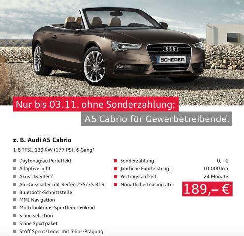 Conduzir Audi?