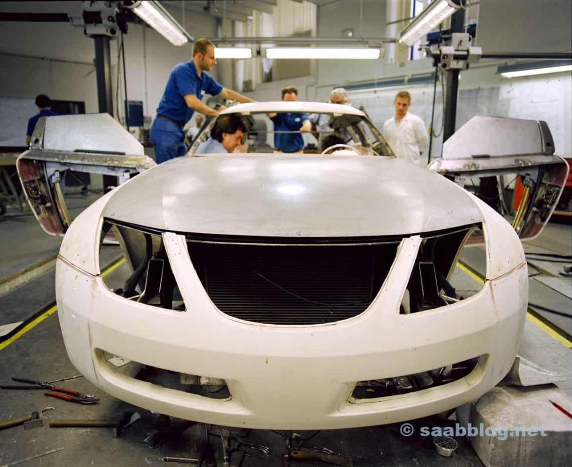 Saab 9x Concept. Blick in die Saab Designwerkstatt