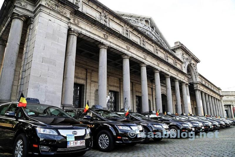 Frota de táxis da BYD em Bruxelas