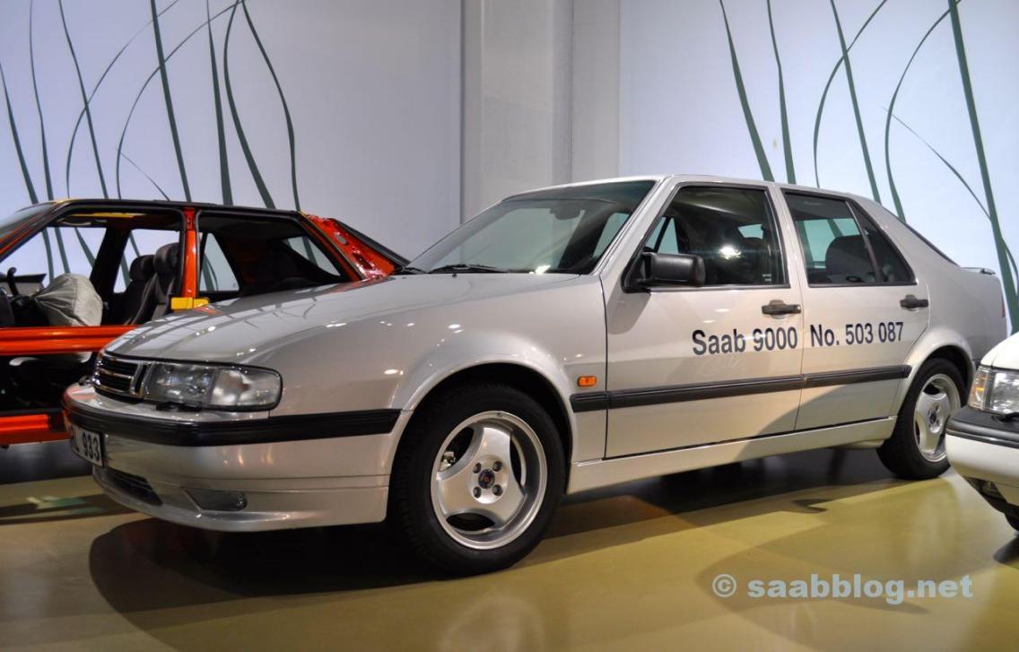 Le dernier construit Saab 9000 dans le Bilmuseum