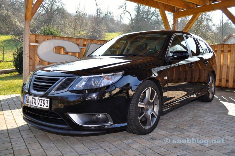 Saab Turbo X. Jetzt mit Hirsch Performance Fahrwerk.