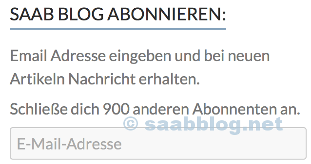 Blog da Saab: assinantes da 900