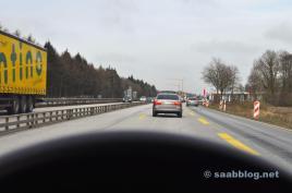 Saab 9-5 2.3t. Unterwegs nach Hessen.