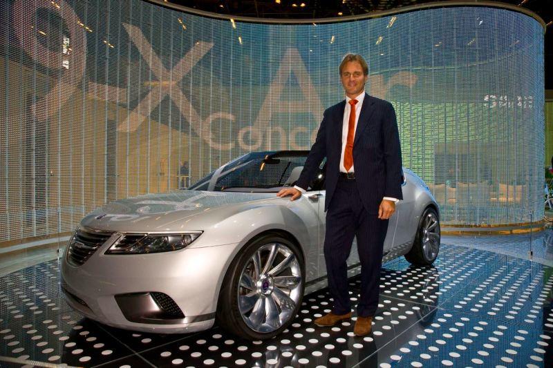 Eric Geers, diretor de comunicação, Saab Automobile AB.