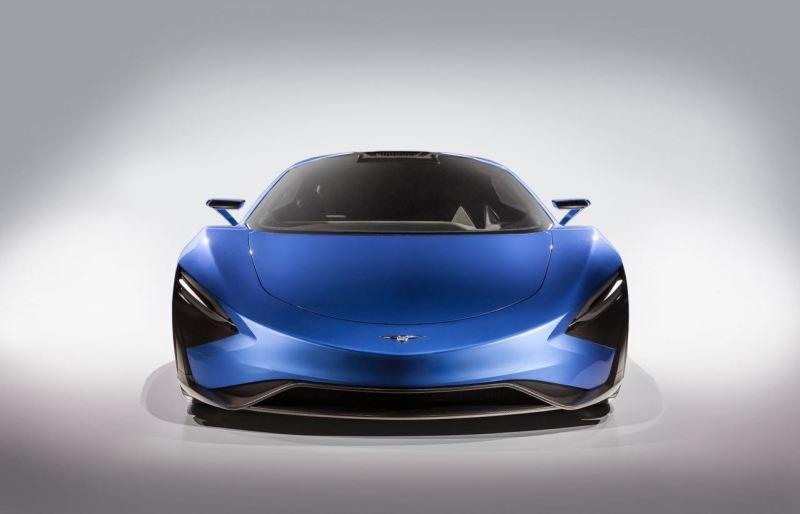 Techrules carro esporte super elétrico com série híbrida
