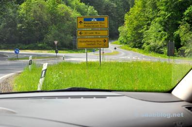 Highway? Lohr? Aschaffenburg? No matter. Driving Saab is fun.