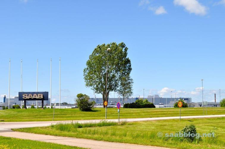 Saab Werk im Sommer 2012.