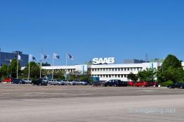 Banderas de Saab, logotipo de Saab. Idilio sueco.