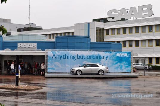 Saab Werk, Hauptportal, 2010.