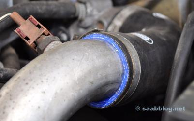 Samco turbo hoses for the Saab 9000.