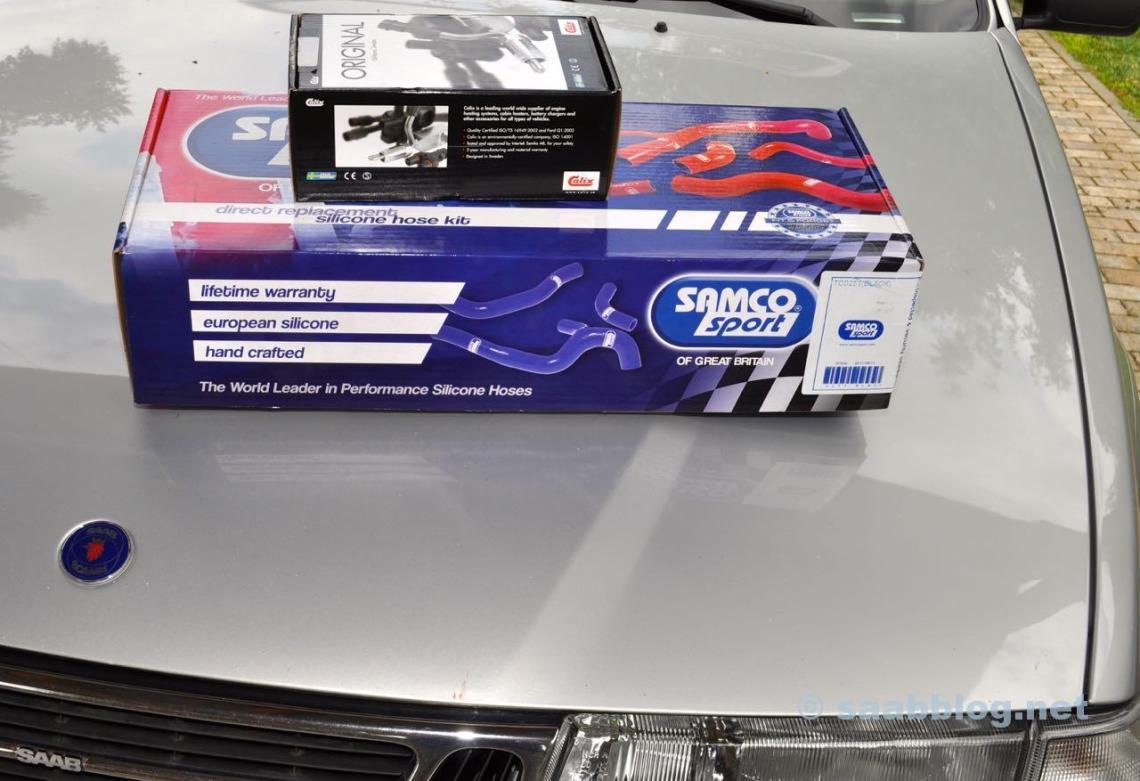 New turbo hoses, engine preheaters for the Saab 9000