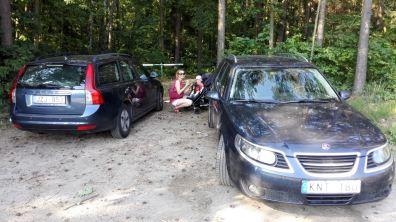 Saab 9-5 Griffin und Volvo V50. Bild: Andt Mitwer