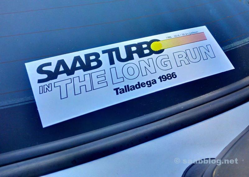 Talladega Long Run. Der Aufkleber zum Jubiläum