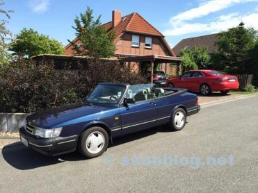 """Armoniza maravillosamente: Saab viejo y nuevo (¿Quién encuentra el """"error"""" en la imagen?) ;-)"""