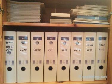 Saab Archiv. Das Drama der letzten Jahre.