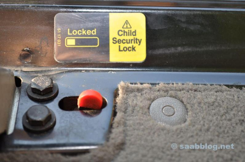 Kindersicherung Heckklappe.