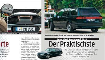 Saab 9000 SC und Saab 900 CD. Credit: Autobild Klassik.