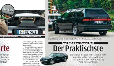 Saab 9000 SC och Saab 900 CD. Kredit: Autobild Classic.