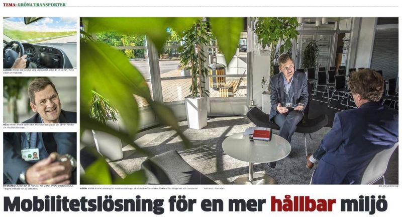 Nachhaltige Mobilität aus Trollhättan. Printversion TTELA.