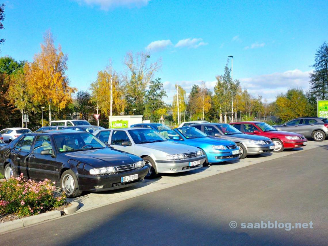Saab Treffen Aschaffenburg. Sehr spontan.