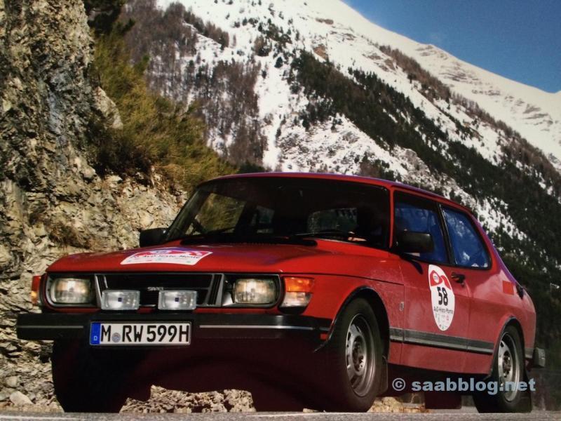 Saab 99 in den Seealpen