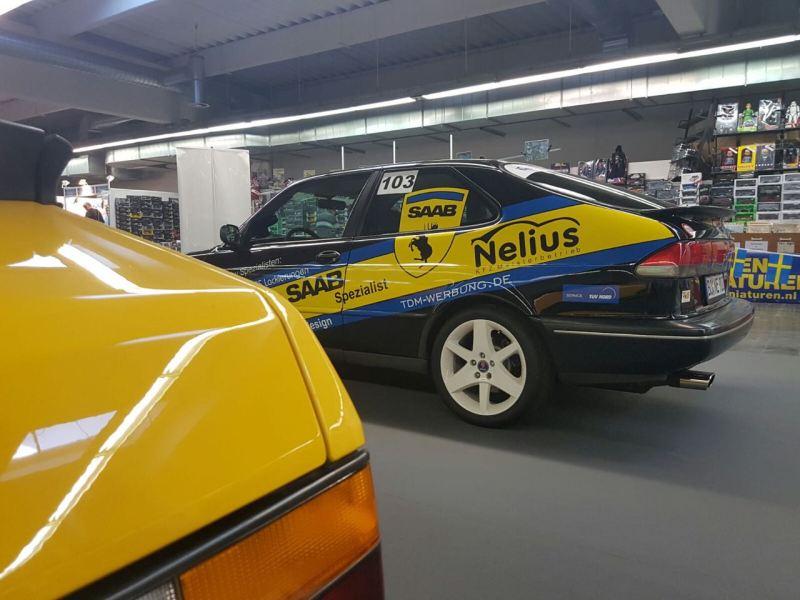 Saab 900 Cab und R900. Bild: 1.deutscher Saab Club