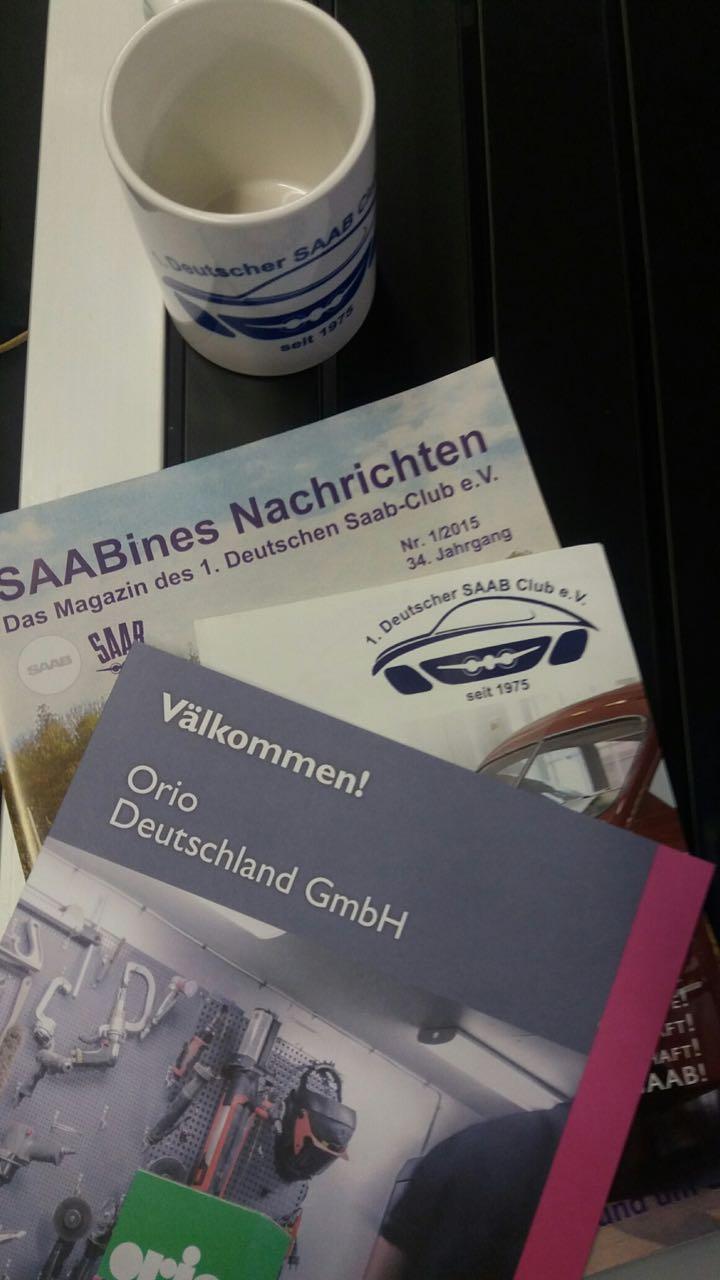 Tout Saab. Crédit photo: 1. Club Saab allemand.