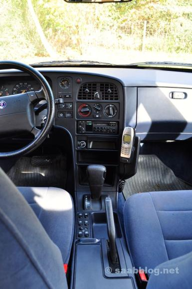 Innenraum 9000 CS 1993 in Persisch Blau.