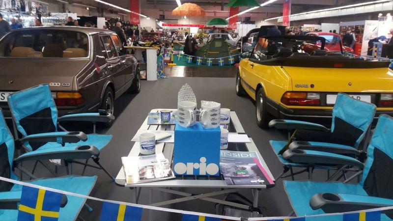 Orio besucht die Essen Motor Show. Foto Credit: 1. deutscher Saab Club.