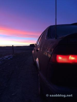 Saab 9000 al amanecer