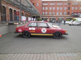 Unser Saab 99 Team, unterstützt von der Orio Deutschland GmbH.