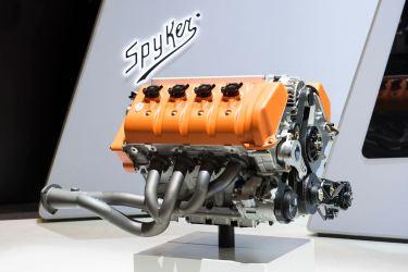 Um V8 com capacidade cúbica de litro 5. Foto: Spyker