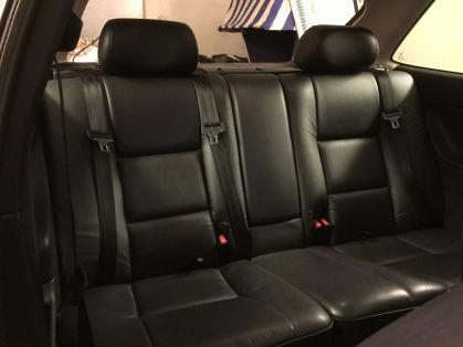Assentos traseiros com assento segura Saab. Uma inovação da Saab. Foto: Gerd