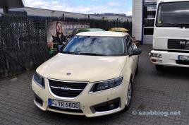 O único taxi Saab 9 5 NG na Alemanha.