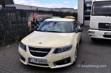 Le seul taxi Saab 9 5 NG en Allemagne.