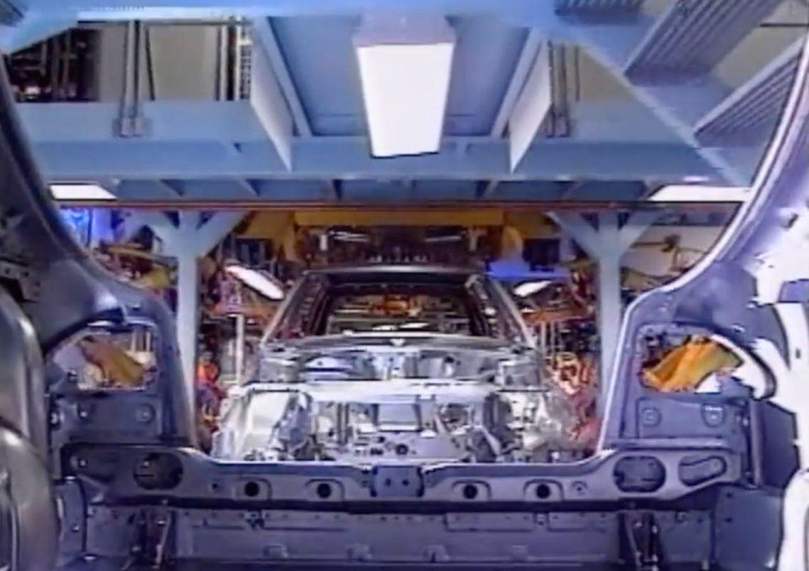 Saab 900-productie in de fabriek in Trollhättan