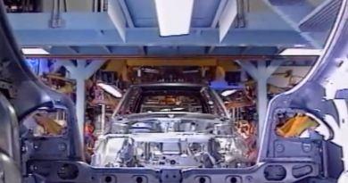 Saab 900 Produktion im Werk in Trollhättan