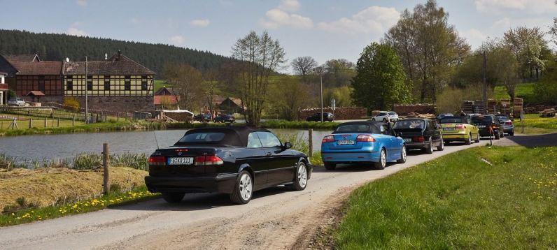 Vårt avgång av Saab-vännerna Thüringen